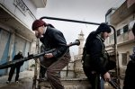 عناصر الجيش السوري الحر في بلدة القصير 27 كانون الثاني/يناير 2012