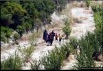 إن رحلة اللاجئين عبر شمال سوريا لا ترحم. هنا، يدخل لاجئون سوريون منطقة حدودية بين سوريا وتركيا، بالقرب من قرية Guvecci التركية في 23 يونيو/ حزيران 2011.