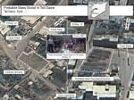 """مجموعة صور فضائية لقريبة تلدو و الحولة في سوريا التقطت بواسطة الأقمار الصناعية وتم تسليمها لرويترز من الحكومة الأمريكية في الأول من شهر يونيو/حزيران تظهر صورة الصورة الملتقطة بتاريخ 18/5/2012 لساحة في قرية """"تلدو"""" (على اليسار). وصورة أخرى (على اليمين) لنفس الساحة وقد التقطت بتاريخ 28/5/2012 والتي يشير مسؤولون أمريكيون إلى المنطقة المنقطة في الصورة على احتمال أن تكون موقع لمقابر جماعية."""