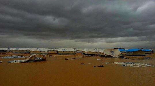 The Zaatari lake.. aka Zaatari Syrian refugee camp in Jordan